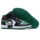 Zapatillas NK Air Jordan 1 Negras & Verdes