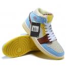 Zapatillas NK Air Jordan 1 Cholate & Celestes