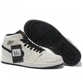 Zapatillas NK Air Jordan 1 Beige & Negro