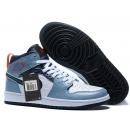 NK A. Jordan 1 Mid Blue