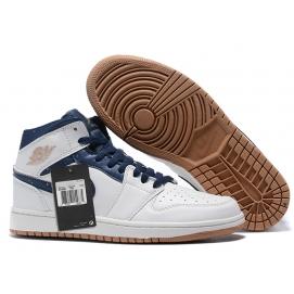 Zapatillas NK Air Jordan 1 Azules & Blancas