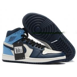 Zapatillas NK Air Jordan 1 Celeste & Azules
