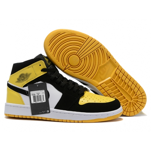 Zapatillas NK Air Jordan 1 Amarillas & Negras