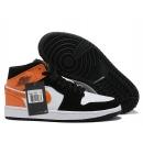 Zapatillas NK Air Jordan 1 Negras & Naranjas