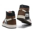 Zapatillas NK Air Jordan 1 Marrones & Blancas