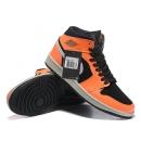 Zapatillas NK Air Jordan 1 Naranjas & Negras Brillantes