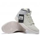 Zapatillas NK Air Jordan 1 Mid Blancas & Celestes