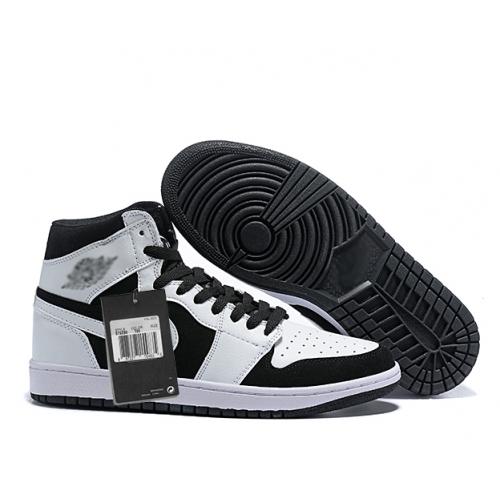 Zapatillas NK Air Jordan 1 Mid Blancas & Negra