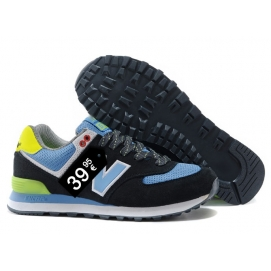 Zapatillas NB 574 Negro y Azul