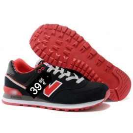 Zapatillas NB 574 Negro y Rojo