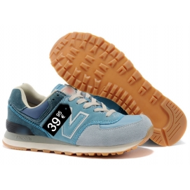 NB 574 Light Blue and White