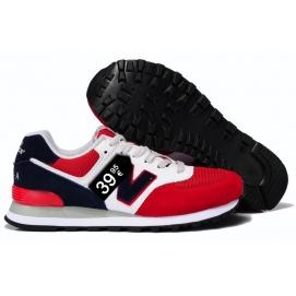Zapatillas NB 574 Rojo, Negro y Blanco