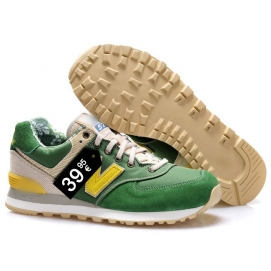 Zapatillas NB 574 Verde y Amarillo