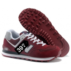 NB 574 Dark Red and White