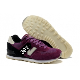 Zapatillas NB 574 Morado y Blanco