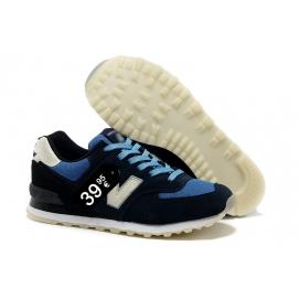 Zapatillas NB 574 Azul Marino y Azul Claro
