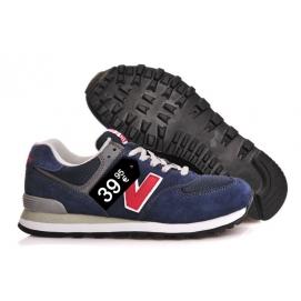Zapatillas NB 574 Azul oscuro y Rojo