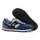 Zapatillas NB 574 Azul oscuro y Blanco