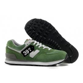 Zapatillas NB 574 Verde y Blanco