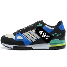 Zapatillas AD ZX750 Azul, Crema y Negro