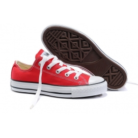 Zapatillas Convrs Allstars Chuck Taylor Rojo (Bajas)