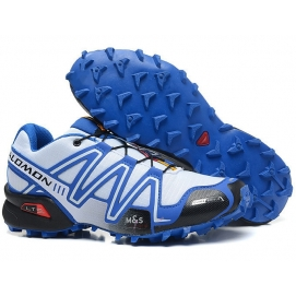 Zapatillas Salmon speed cross 3 Blanco y Azul