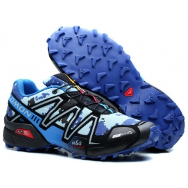 Zapatillas Salmon speed cross 3 Azul y Celeste