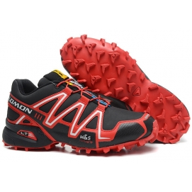 Zapatillas Salmon speed cross 3 Negro y Rojo