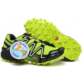 Zapatillas Salmon speed cross 3 Negro y Verde Fluor