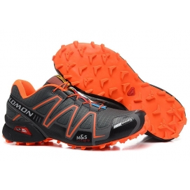Zapatillas SMN Speedcross 3 Gris y Naranja