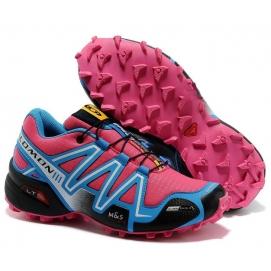 Zapatillas SMN Speedcross 3 Rosa y Celeste