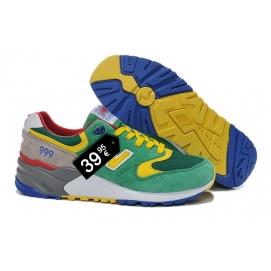 Zapatillas NB 999 Verde, Amarillo, Gris y Azul