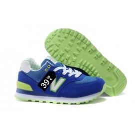 Zapatillas NB 574 Azul, Verde y Blanco