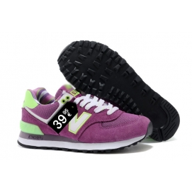 Zapatillas NB 574 Morado, Verde y Blanco