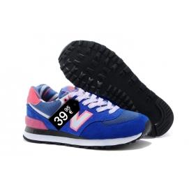 Zapatillas NB 574 Azul, Rosa y Blanco