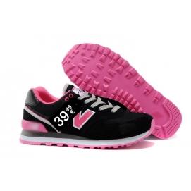 Zapatillas NB 574 Negro y Rosa